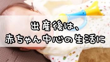 出産後は、赤ちゃん中心の生活に
