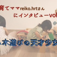 【子育てママにインタビューvol.15】積み木遊びの天才少女たち